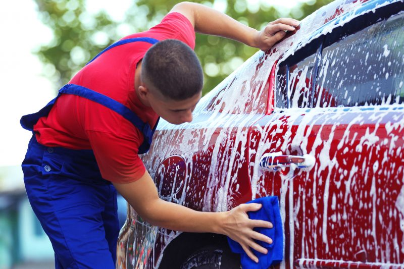 Washing your car in the summer